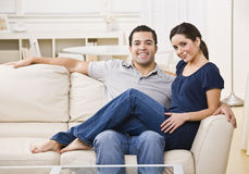 Couple on Couch Stock Photography
