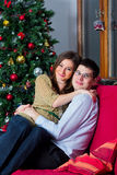 Couple on the couch Stock Photography