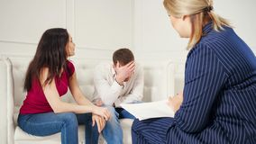 Couple counseling concept. royalty free stock photo