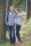 Couple On Country Walk Through Woodland Royalty Free Stock Images