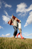 Couple in countryside Royalty Free Stock Photo