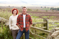 Couple in countryside Stock Images