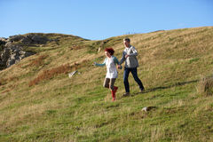 Couple in countryside Stock Photography