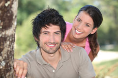 Couple in the countryside Royalty Free Stock Image