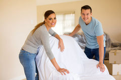 Couple cover furniture Stock Image