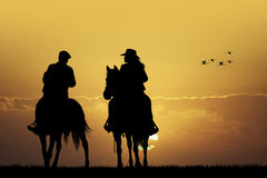 Couple cowboy Stock Photos