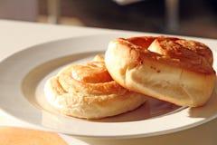 Couple of cream rolls stock photo