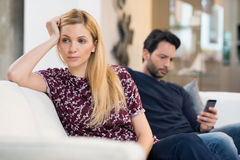 Couple in crisis Royalty Free Stock Photo