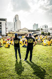 Couple with crowd at Bersih 4 rally Royalty Free Stock Photography