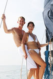 Couple on cruise. Stock Photography