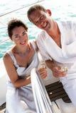 Couple on cruise. Stock Photo