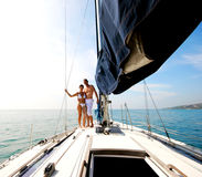 Couple on cruise. Stock Image