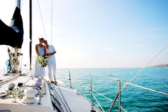 Couple on cruise. Stock Images