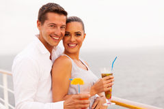 Couple cruise enjoying Royalty Free Stock Image