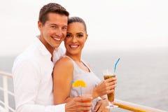 Couple cruise enjoying royalty free stock image