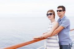 Couple at cruise Royalty Free Stock Image