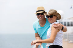 Couple cruise holiday Stock Images