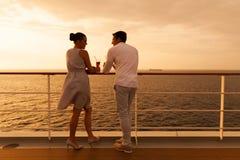 Couple cruise holiday stock images