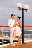 Couple on cruise Stock Image