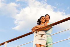 Couple cruise ship Royalty Free Stock Images