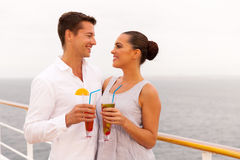 Couple cruise ship Royalty Free Stock Image