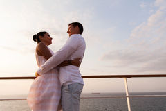 Couple cruise ship Stock Image