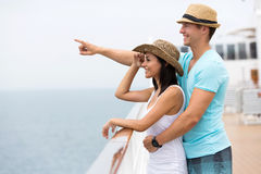 Couple cruise ship stock image