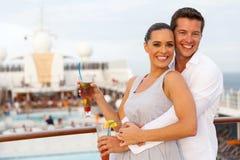 Couple cruise trip stock photos