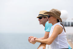 Couple cruise vacation Stock Photos