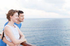 Couple at cruise Royalty Free Stock Photos
