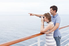 Couple cruising Stock Image