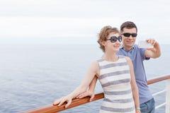 Couple cruising Royalty Free Stock Images