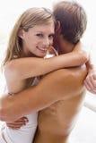 Couple cuddling Stock Photos