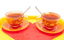 The couple of cup of tea Stock Image