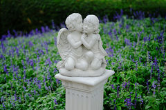 Couple cupid statue Royalty Free Stock Photos