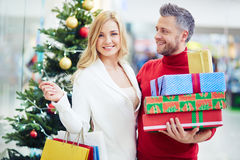 Couple of customers Stock Photography