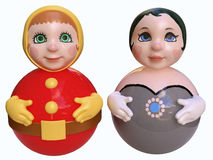 Couple of cute dolls Royalty Free Stock Photos