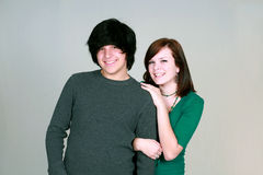 couple cute teen 免版税图库摄影