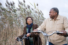 The couple cycling Royalty Free Stock Images