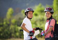 Couple cyclist Stock Image