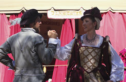 A Couple Dance at the Arizona Renaissance Festival Stock Image