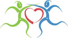 Couple dance logo vector illustration