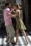 Couple dance in the street. Stock Photo