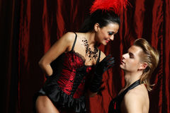Couple dancer moulin rouge Royalty Free Stock Photos