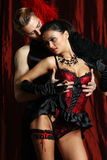 Couple dancer moulin rouge Stock Image