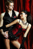Couple dancer moulin rouge Stock Photography