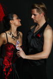 Couple dancer moulin rouge Royalty Free Stock Photo