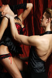 Couple dancer moulin rouge Royalty Free Stock Photography