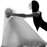 Couple dancer performer love concept Royalty Free Stock Photos