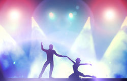 A couple of dancers in elegant dancing pose in club Stock Photo